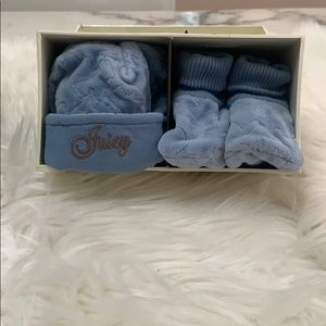 **Brand New* Juicy Couture Baby Boy Hat and Bootie